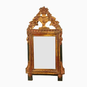 Louis XVI Giltwood and Lacquered Mirror