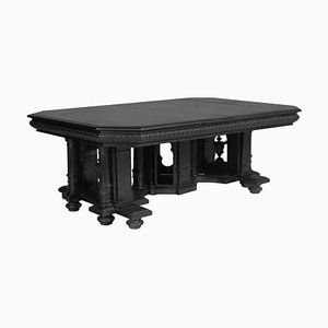 Antique Ebonized Carved Walnut Dining Table by Andrea Palladio