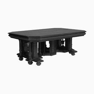 Tavolo da pranzo antico in legno di noce intagliato ebanizzato di Andrea Palladio