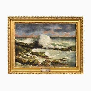Serrier Georges, paisaje, óleo sobre lienzo, del siglo XIX.