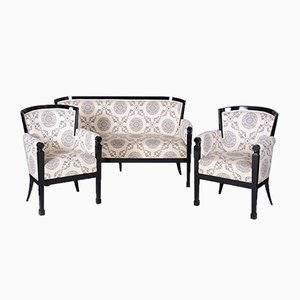 Czech Black Empire Living Room Set, 1810s, Set of 3