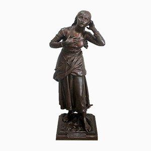 Juana de Arco de bronce de H. E. Dumaige, siglo XIX