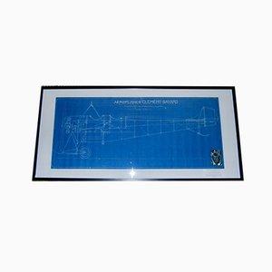 Military Airplane Blueprint von Gustave Adolphe Clément-Bayard, 1913