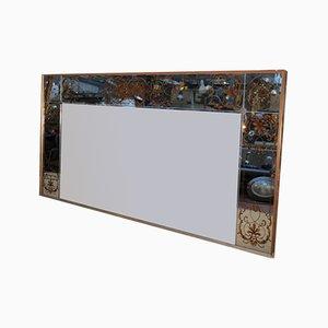 Spiegel mit vergoldetem Holzrahmen, 1960er Jahre