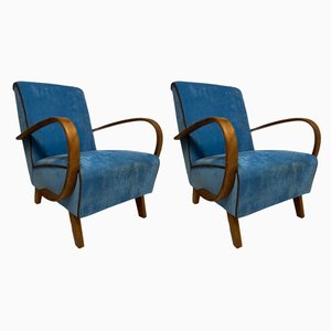 Model C Armchairs by Jindřich Halabala for UP Závody, 1940s, Set of 2