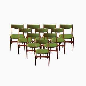 Chaises de Salle à Manger en Teck par Erik Buch, Danemark, 1960s, Set de 10