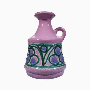 Deutsche Mid-Century Vase aus Lila Strehla, 1950er