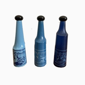 Surrealist Glass Bottles by Salvador Dali for Rosso Antico, 1970s