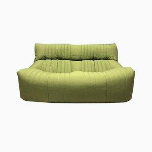 Grünes Französisches Vintage 2-Sitzer Aralia Sofa von Ligne Roset, 1980er