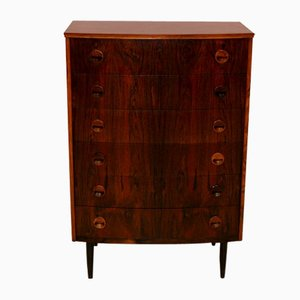 Rosewood Tallboy Chest of Drawers, 1960s