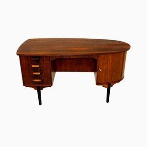 Palisander Kiesel Schreibtisch, 1960er Jahre