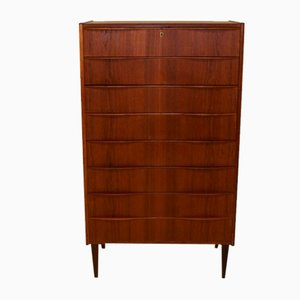 Commode Tallboy en Teck, 1960s