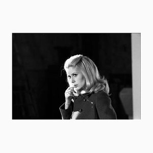 Catherine Deneuve Belle Du Jour Archival Pigment Print Framed in White by Giancarlo Botti