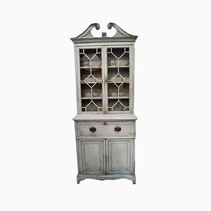 George III Mahogany Secretaire or Bookcase