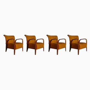 French Armchairs by Hugues Steiner for Steiner, 1940s, Set of 4