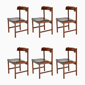Vintage Danish Dining Chairs, 1960s, Set of 6