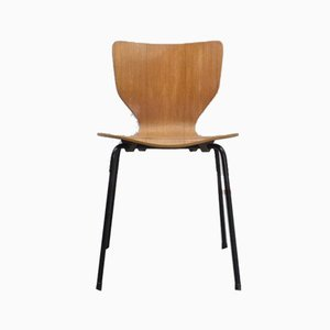 Danish Teak Plywood Dining Chair, 1960s