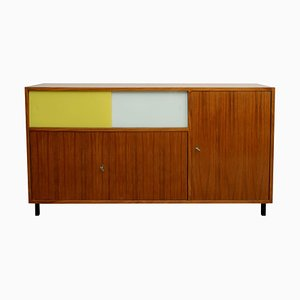 Walnut Sideboard with Sliding Doors, 1960s