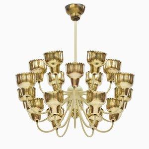 Lámpara de araña de colmena de Hans Bergström para Ateljé Lyktan