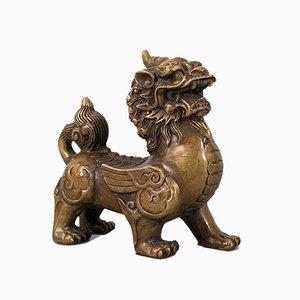 Statua antica in ottone di Pixiu, inizio XX secolo