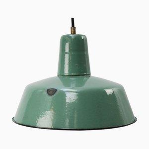Lampada a sospensione vintage industriale color petrolio