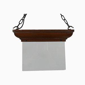 Antikes englisches Glas und Kupfer Ausgangsschild