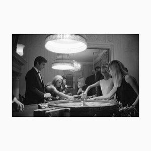 At the Pair of Shoes Casino Archival Pigment Print encadré en noir par Phillip Harrington