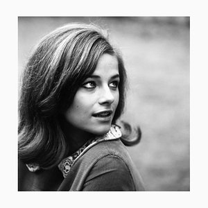 Charlotte Rampling Archival Pigment Print Framed in Black by Everett Collection