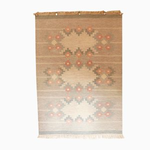 Swedish Rollakan Flatweave Kilim Carpet, 1970s