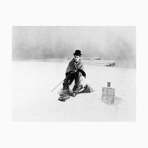 Charlie Chaplin Archival Pigment Print incorniciato in nero
