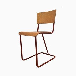 Roter Stahlrohr Stuhl, 1980er