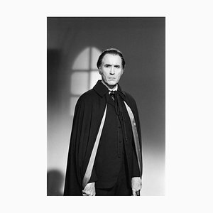 Christopher Lee Archival Pigment Print Framed in White by George Greenwell