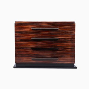 French Art Deco Macassar Ebony Chest of Drawers