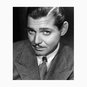 Clark Gable Archival Pigment Print Framed in White