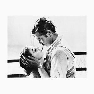 Clark Gable und Vivien Leigh Archivdruck in Schwarz