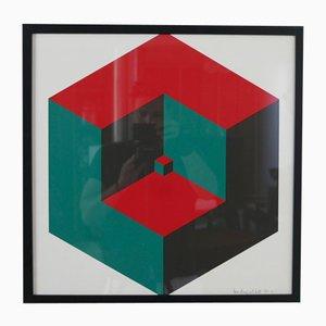 Estampado geométrico, años 70
