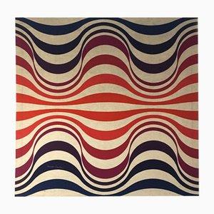 Verner Panton, lienzo geométrico cuadrado, años 70