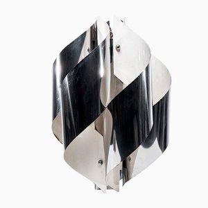 Lampada Twisted in metallo cromato di Gaetano Sciolari, Italia, anni '70