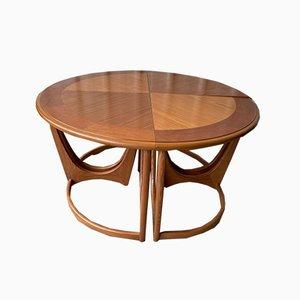 Tavolini da caffè di G-Plan, anni '80, set di 4