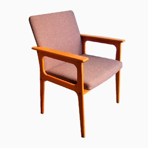 Vintage Danish Oak Armchair, 1960s