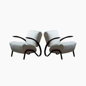 Art Deco Model H275 Armchairs by Jindřich Halabala, 1930s, Set of 2