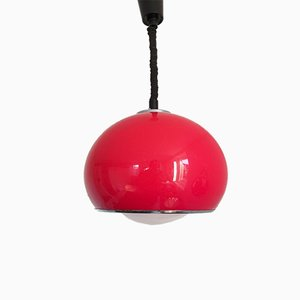Italian Model 3030 Red Bud Pendant Lamp by Studio6G for Guzzini, 1970s