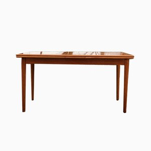Mid-Century Teak Extending Dining Table by Johannes Andersen for FM Møbler