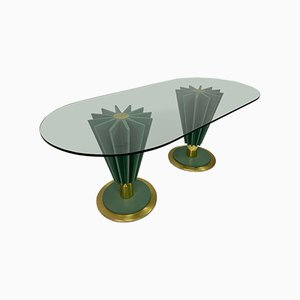 Italian Brass And Iron Dining Table by Pierre Cardin, 1970s