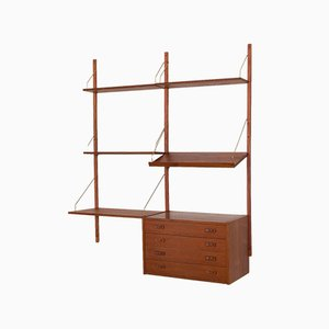 Teak Wall Unit, Denmark, 1960s