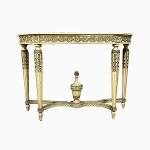 Louis XVI Lacquered Wood Console Table