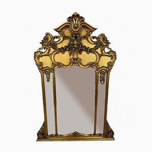 Specchio in legno dorato Louis X.