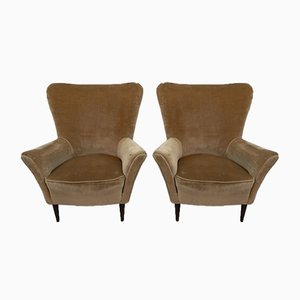 Mid-Century Modern Lounge Chairs by Gio Ponti for ISA Bergamo, 1950s, Set of 2