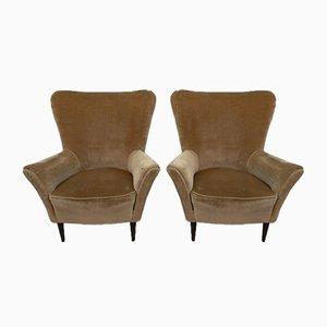 Mid-Century Modern Lounge Chairs von Gio Ponti für ISA Bergamo, 1950er Jahre, 2er-Set