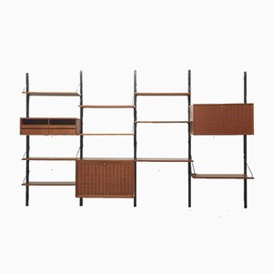 Mid-Century Wall Unit Teak by Poul Cadovius for Cado